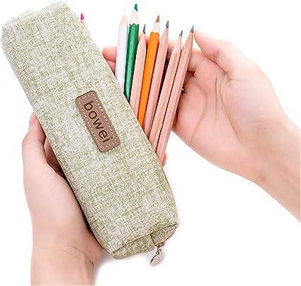 Shager – 1 estuche de lona pequeño, para niñas, adolescentes, papel de carta, estuche para lápices, 7,5 x 2 pulgadas, color verde 7.5 * 2 inches: Amazon.es: Oficina y papelería