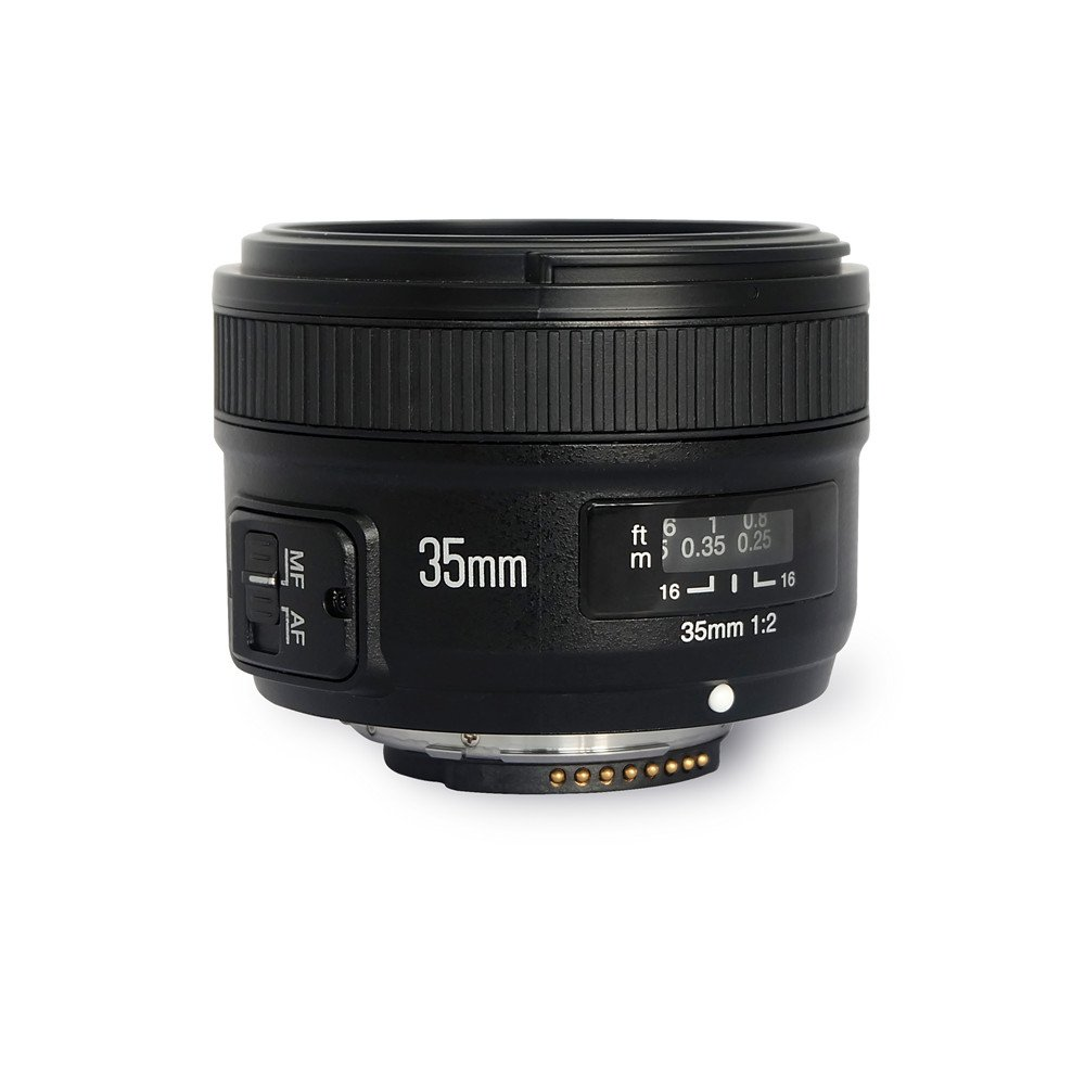 YONGNUO YN35mm F2 Lens 1:2 AF/MF Wide-Angle Fixed/Prime Auto Focus Lens for Nikon DSLR Cameras by Yongnuo