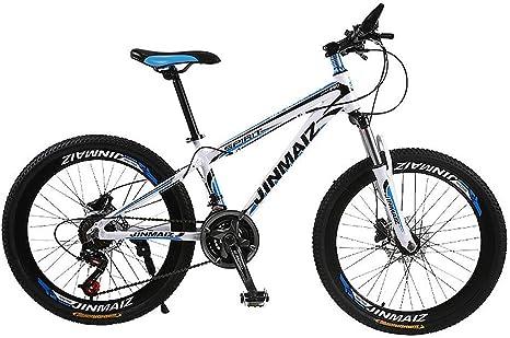 Bicicleta De Montaña 30 Velocidades Doble Freno Disco Freno Disco Tenedor Resorte Aleación Aluminio Bicicleta Montaña Damas Bicicleta 26 Pulgadas,Whiteblue: Amazon.es: Deportes y aire libre
