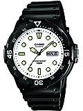 Casio CASIO Collection Men - Reloj analógico de caballero de cuarzo con correa de resina negra - sumergible a 100 metros