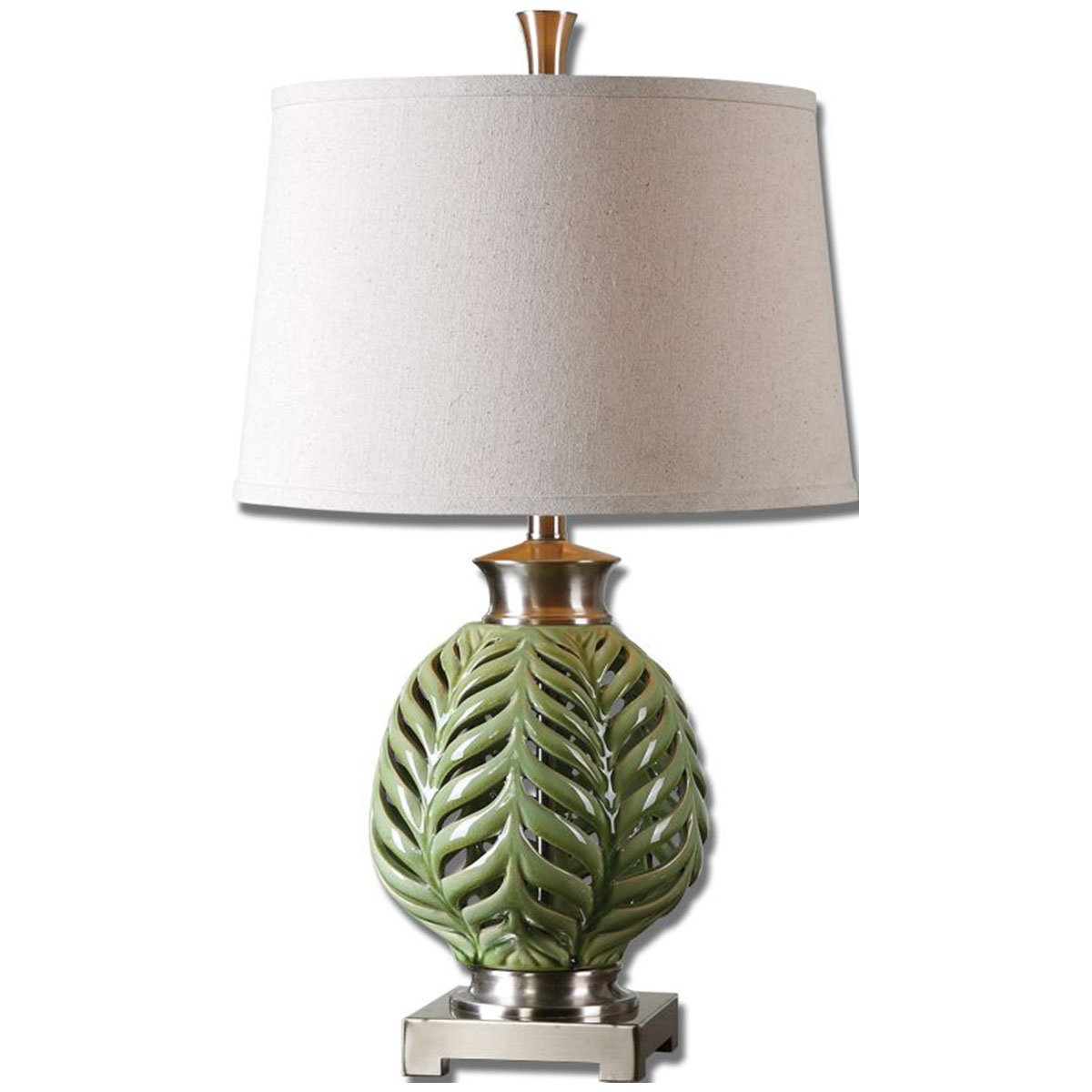 Amazon.com: Uttermost 26285 Flowing Table Lamp, Fern Green: Home U0026 Kitchen