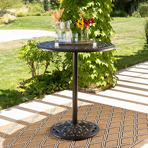 - Handel Outdoor Patina Copper Finish Cast Aluminum Bar Table