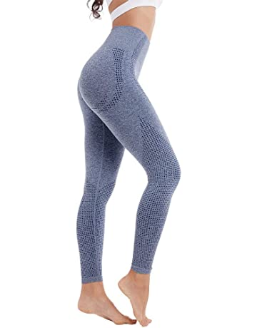 acfca9aa42c Aoxjox Yoga Pants for Women High Waisted Gym Sport Ombre Seamless Leggings