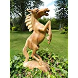 Wooden Horse Carving - Rearing Horse 30cm by Thai Gifts