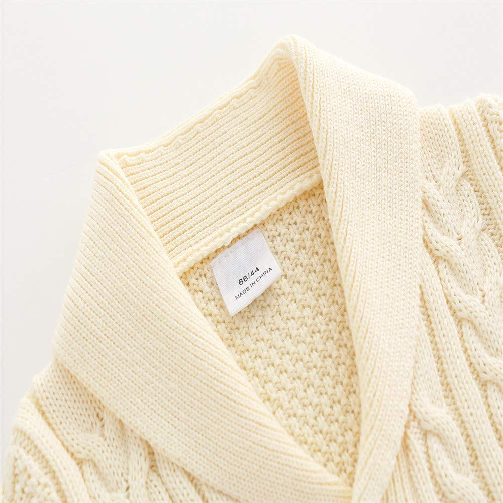 Auro Mesa New Born Baby Boy Fall Winter Clothes Cable Knit Sweater Romper Jumpsuit Outfits
