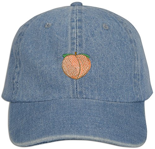 red Dad Cap Hat Adjustable Polo Style Unconstructed (Lt. Blue Denim) ()