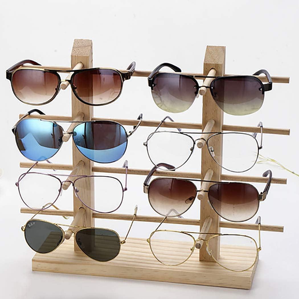 JUSTDOLIFE Expositor De Gafas De Madera Soporte De Gafas De Sol Estante De Gafas De Sol Estante De Anteojos