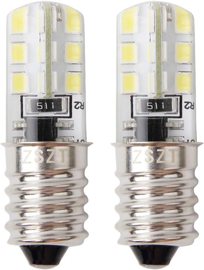 Bombilla frigorífico LED E14 2W (equivalente de bulbo del halógeno 10-25W) Blanco frío 6000K, Diseño impermeable, 2 unidades