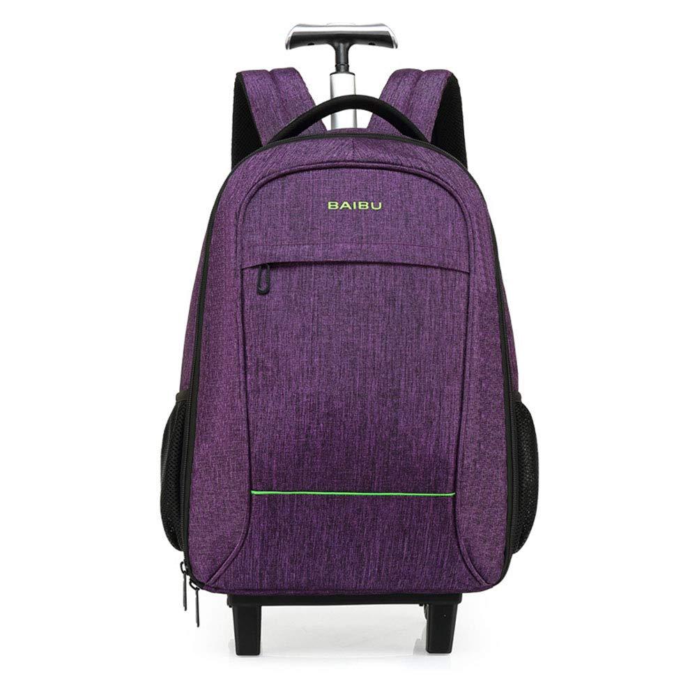 防水トラベルトロリーバックパック荷物バッグキャリーオンバッグラップトップ用大容量トロリーバッグ Medium Purple B07MNDBJLC