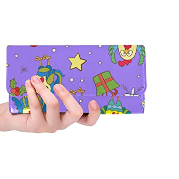 fb07a3cc23e7 Silly Meow Funny Cartoon Cockerel And Snowflakes Custom Women's Wallet  Women's Trifold Long Clutch Wallets Great Gift