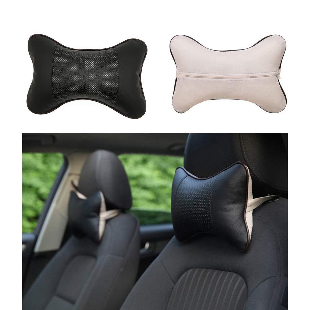 TOMYEER Auto Hals Kissen Atmungsaktiv Auto Sitz Kopf Hals Sich Packung mit 2