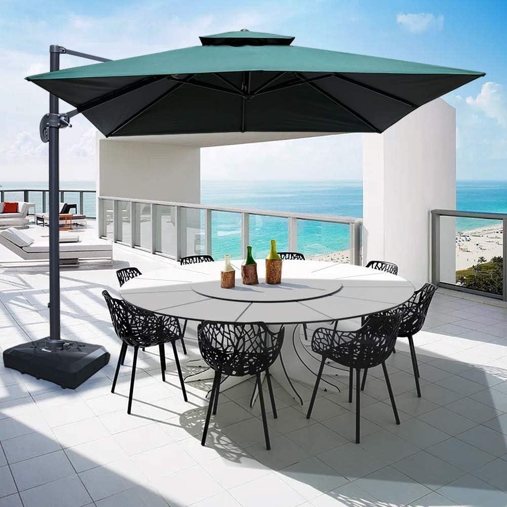 ZLRE 10ft Patio Umbrella Outdoor Square Umbrella Large Cantilever Umbrella Windproof Offset Umbrella Heavy Duty Sun Umbrella for Garden Deck Pool Patio: Amazon.es: Hogar