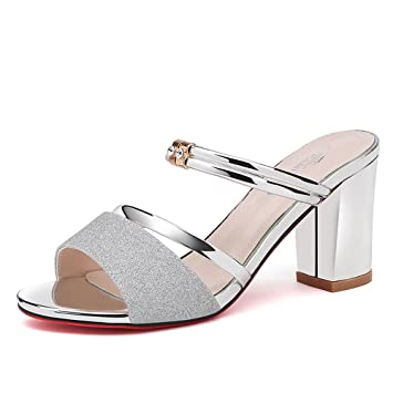 Sandals Sandalias Duo Moda Zapatos Tacones Zapatillas Altos Chanclas SVpUzM