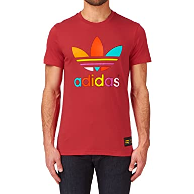 b5e966f3a adidas originals Mono Color T-shirt - Red S09  Amazon.co.uk  Clothing