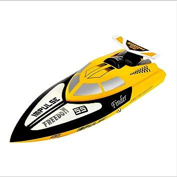 LHFJ Barco de Carrera Eléctrica de Alta Velocidad de Control Remoto RC Boat 2.4Ghz Restablecer