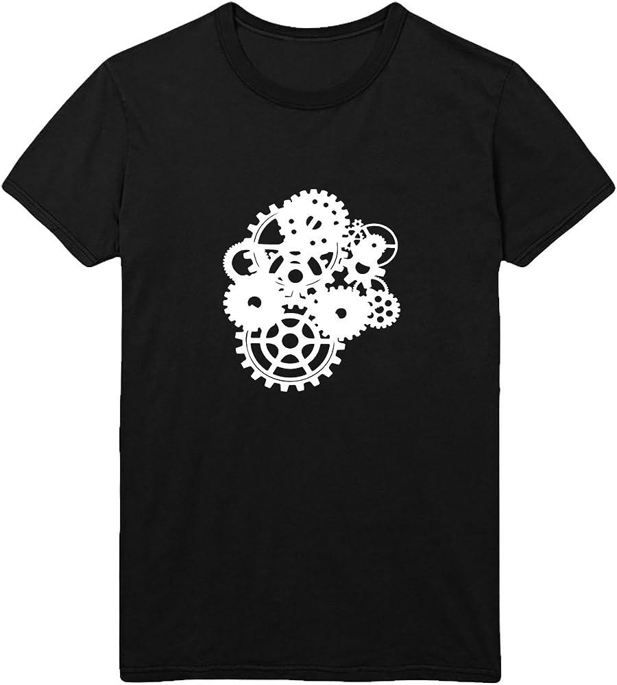 MYMERCHANDISE Steampunk Wheels Spinning T-Shirt Camiseta Shirt ...