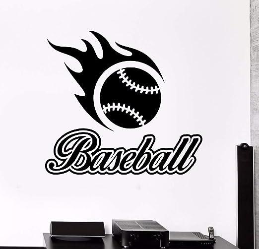 yuandp Béisbol Palabra Sala de Deportes Decoración Vinilo Arte ...