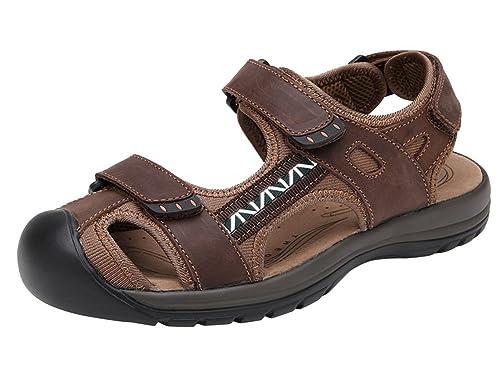 961e24fb77e4 Wentsven Womens Athletic Beach Hiking Closed Toe Sandals  Amazon.co ...