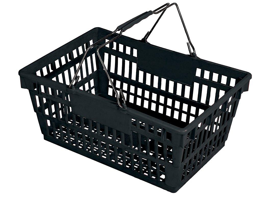 Winholt LSB-1BK Customer Shopping Super Sani-Basket, 13'' x 19'' x 10'' Size, Black