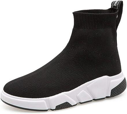 ASTAOT Zapatillas De Deporte para Mujer Calcetín Zapatillas De Deporte Mujer Calzado Deportivo Zapatillas Altas Plateadas Zapatillas Deportivas para Correr Al Aire Libre-Black,5.5: Amazon.es: Zapatos y complementos