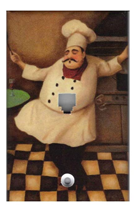 Fat Chef Kitchen Home Decor Light Switch Plates And Outlets Phone