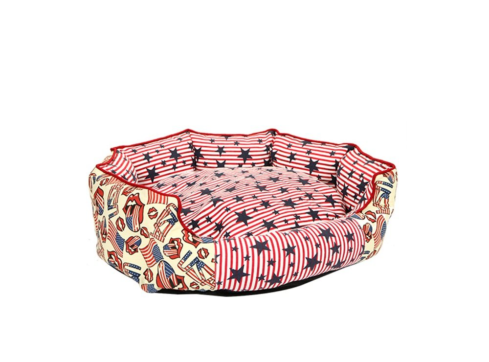 M Pet nest Global- Creative Pet Supplies Kennel Pet Bed Pet Cushion Pet Cat Nest Dog Bed Strong Resistance To Bite (Size   M)