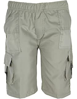 Boy/'s Check Shorts Side Pockets Combat 4-14 Years