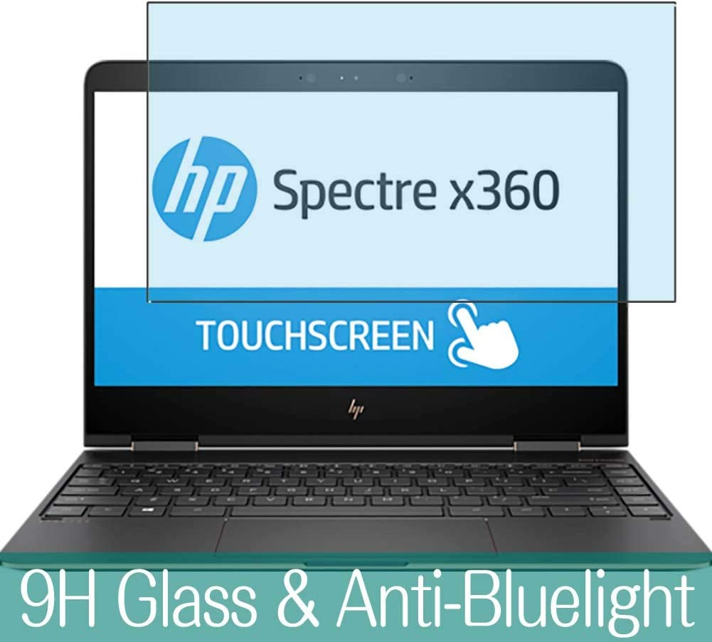 """Synvy Anti Blue Light Tempered Glass Screen Protector for HP Spectre x360 13-ac000 13.3"""" Visible Area 9H Protective Screen Film Protectors"""