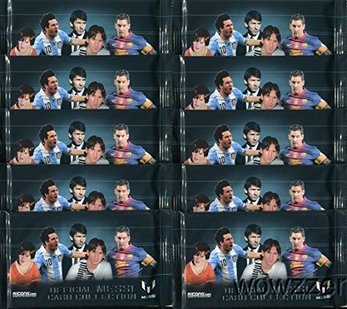 Lionel Messi Card Collection Lot of TEN(10) Factory Sealed Packs with 50 Cards! All Cards Feature FC Barcelona World Champion Lionel Messi! Plus Chance to Win Messi Match-Worn Shirt worth $15,000!