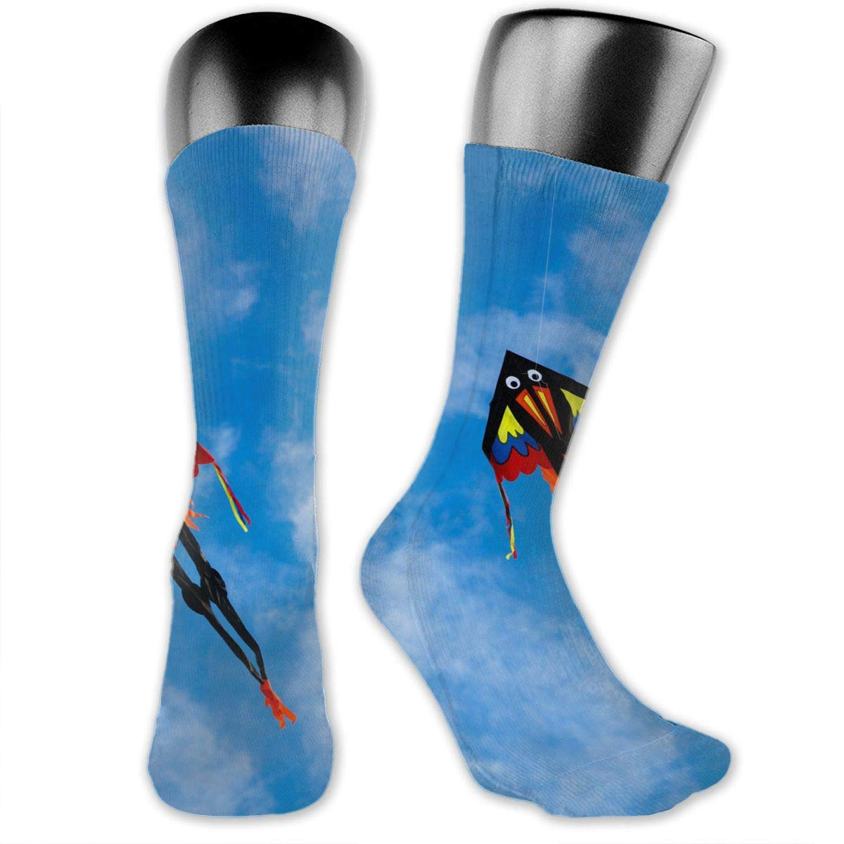 OLGCZM Colorful Kite in The Sky Men Womens Thin High Ankle Casual Socks Fit Outdoor Hiking Trail