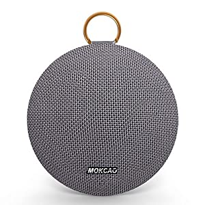 Bluetooth Speakers 4.2,Portable Wireless Speaker with 15W Super Stereo Sound,Strong Bass,Waterproof IPX7, 2500mAh Battery,MOKCAO STYLE Perfect for iPhone/Android devices,Colorful Christmas Gift-Grey