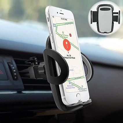 Soporte Movil Coche, POOPHUNS Soporte Coche, Soporte Magnético Universal, 360° Rotación, Rejillas del Aire, Tamaño Ajustables, Compatible con iPhone ...