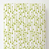 Carousel Designs Citron Flying Arrow Toddler Bed Sheet Fitted