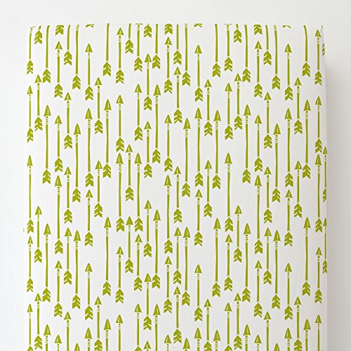 Carousel Designs Citron Flying Arrow Toddler Bed Sheet Fitted by Carousel Designs