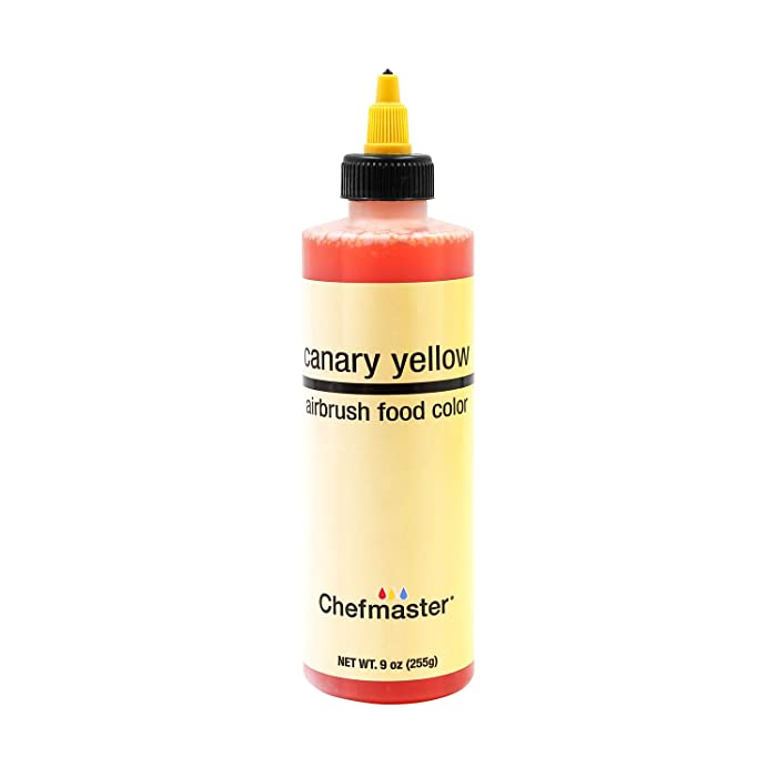 U.S. Cake Supply 9-Ounce Airbrush Cake Food Color Canary Yellow