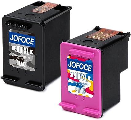 Jofoce Remanufacturado HP 300 300XL Cartuchos de tinta(1 Negro 1 tricolor), Compatible con HP DeskJet D1660 D2660 D5560 F2480 F4280, HP Envy 100 110 114 120, HP PhotoSmart C4680 C4780 C4670 C4600: Amazon.es: Oficina y papelería