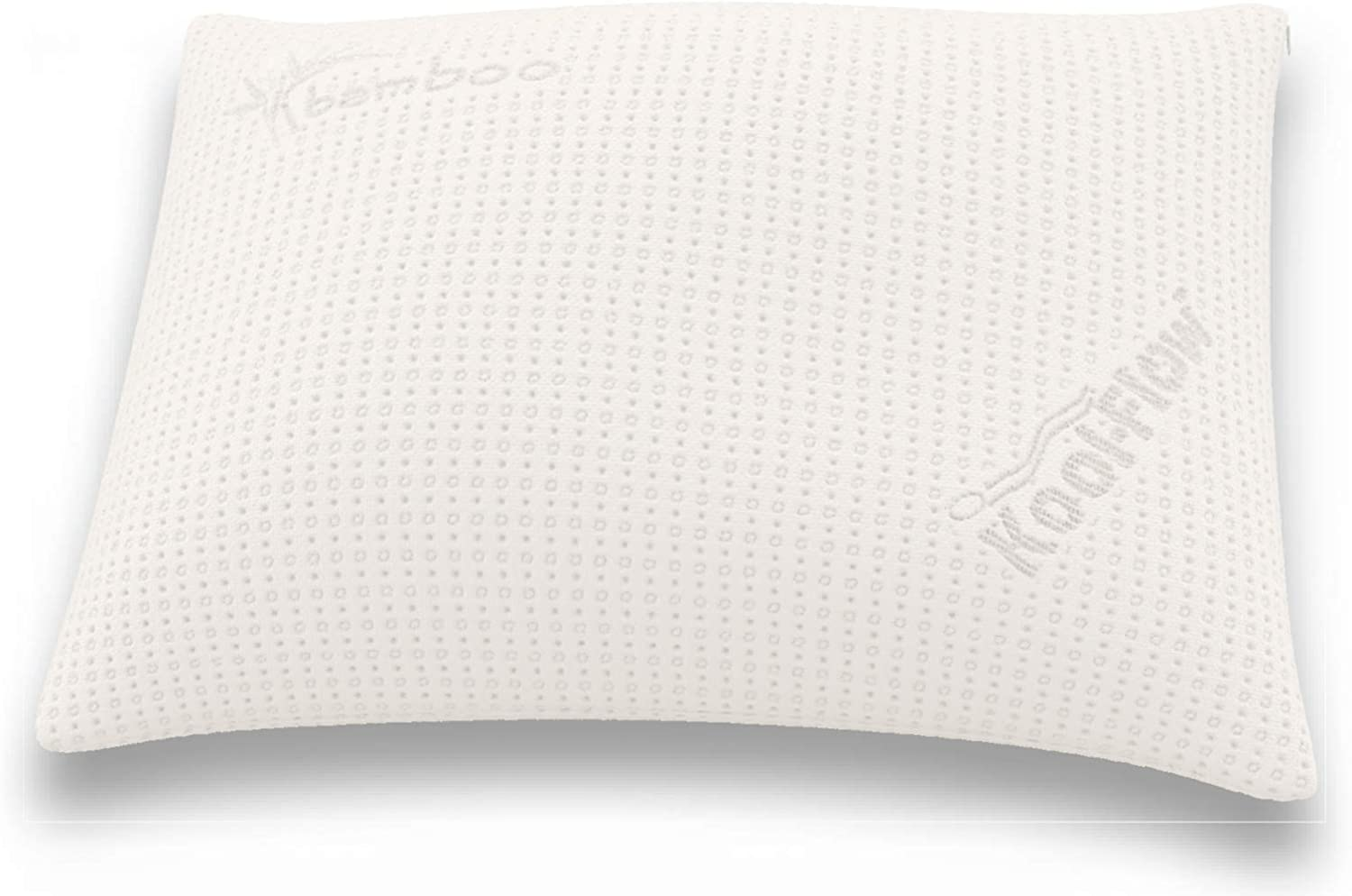 Snuggle-Pedic Supreme Plush Ultra-Luxury Hypoallergenic Bamboo Shredded Gel-Infused Memory Foam Pillow Combination with Adjustable Fit & Zipper Removable Kool-Flow Cooling Pillow Cover (Standard)