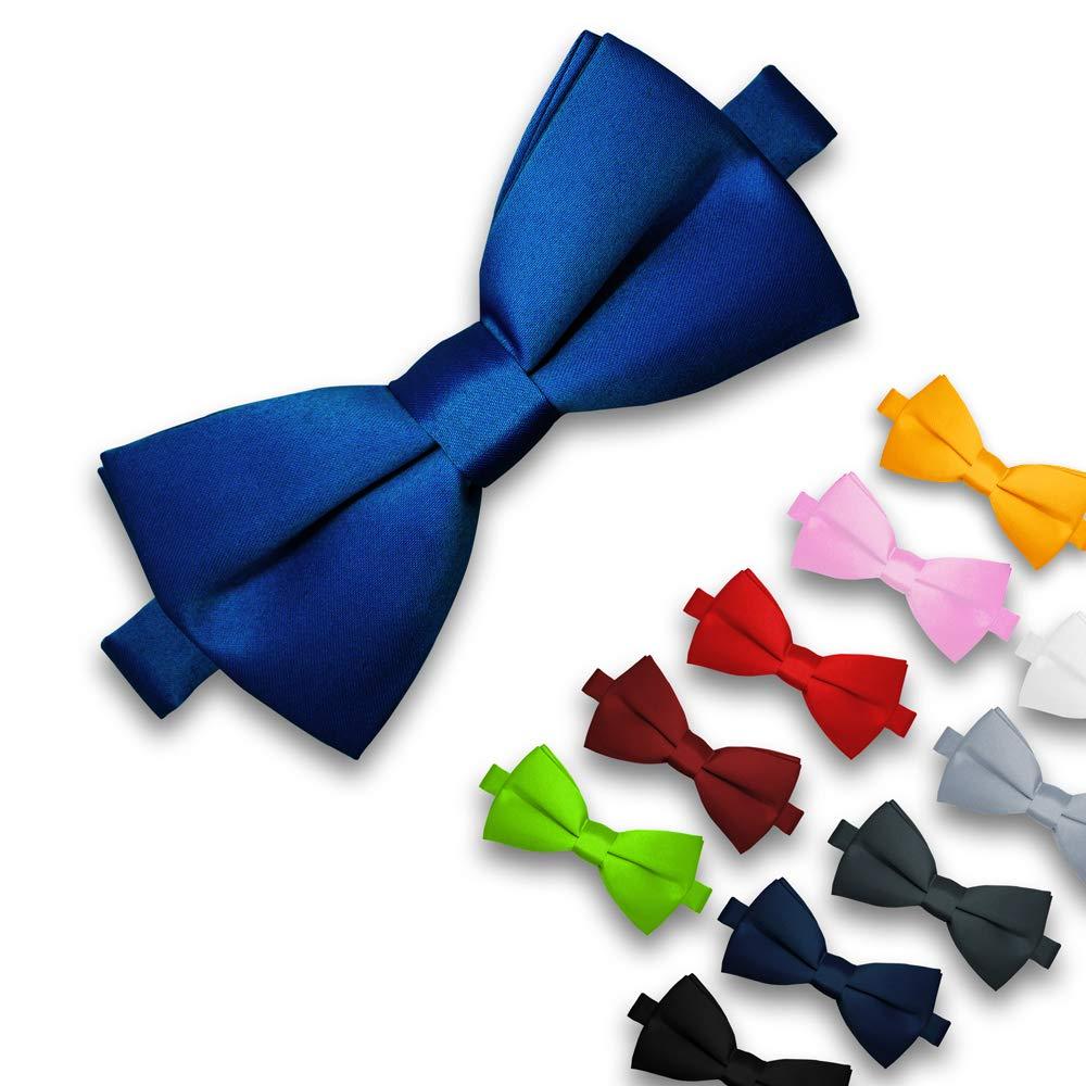 Colore:Blu Soul-Cats/® Bambini Farfallino prebonded Regolabile Nozze Matrimonio Comunione cresima