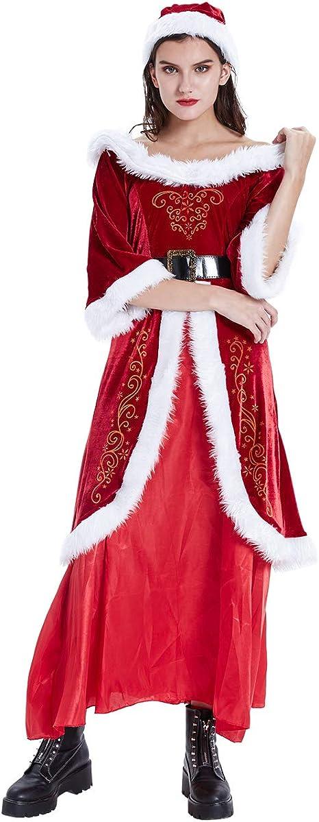 ShiyiUP Disfraces de Papá Noel para Navidad Traje de Cosplay para ...