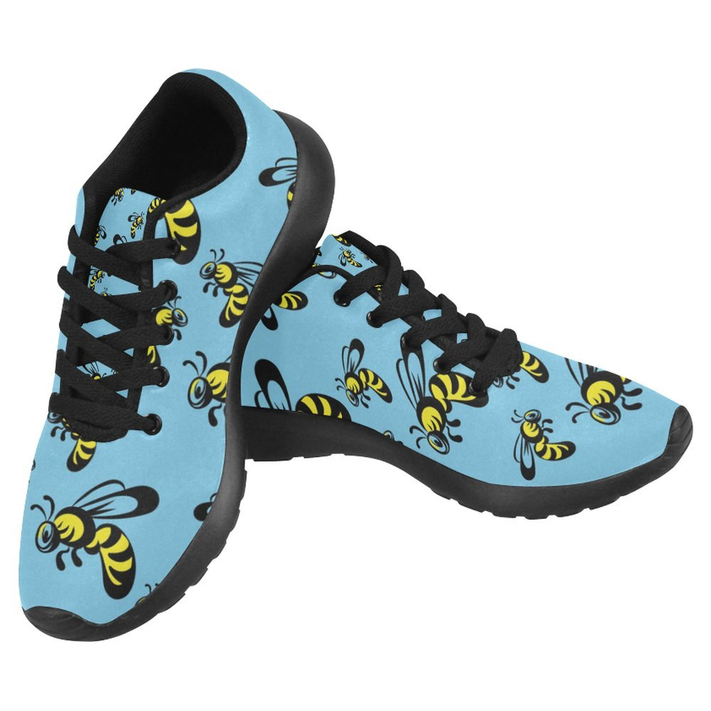 InterestPrint Women's Jogging Running Sneaker Lightweight Go Easy Walking Casual Comfort Sports Running Shoes Size 12 Cartoon Honey Bee