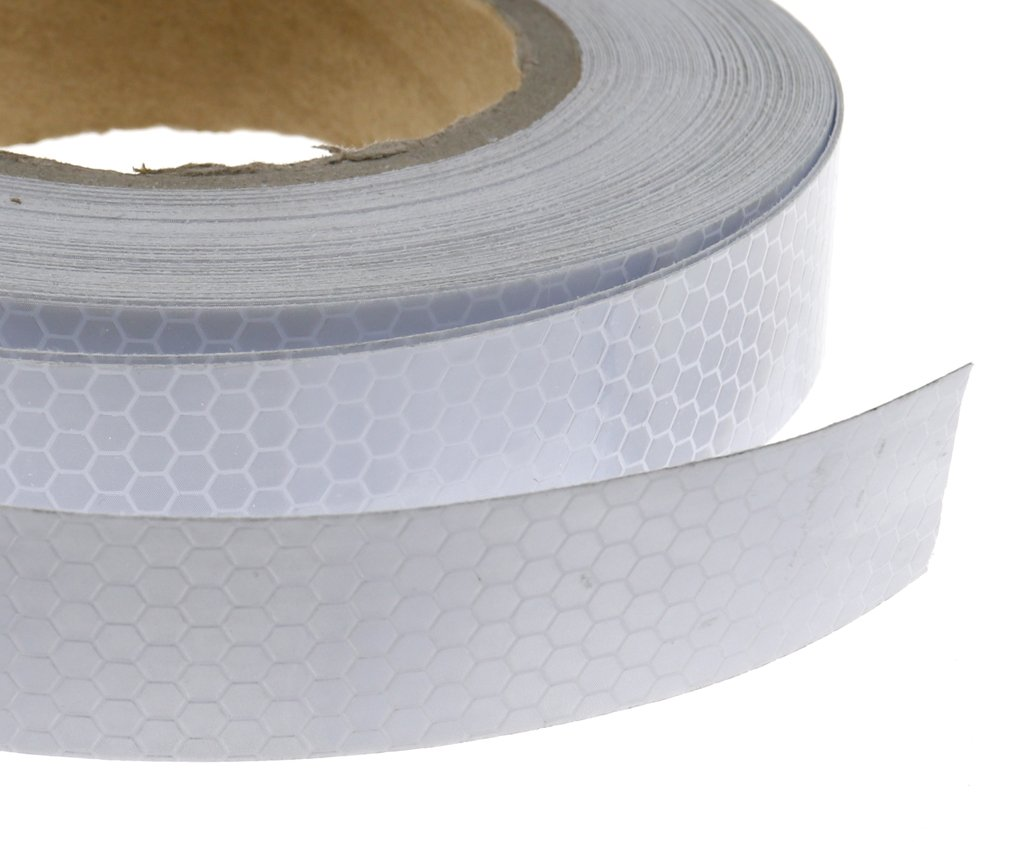 Roll Self-Adhesive Reflective Safety Warning Conspicuity Tape Silver 2.5cmx10m