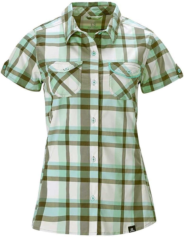 Salomon - Camisas - para mujer mosstone green/plastic-x/ extra-small: Amazon.es: Ropa y accesorios