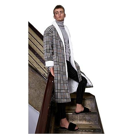 Bata para Hombre Pijamas Lazos para Hombres Paño Grueso Y Suave Albornoz Niño Salón Desgaste (