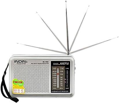 Enjoyall BC-R90 Radio FM Am Multifuncional sin batería ...