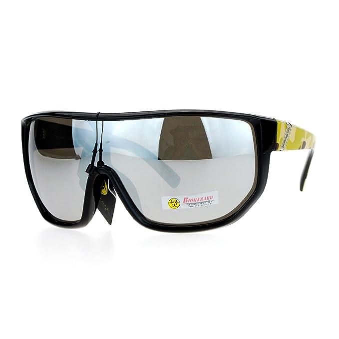 Amazon.com: Biohazard anteojos de sol Hombre Escudo de gran ...