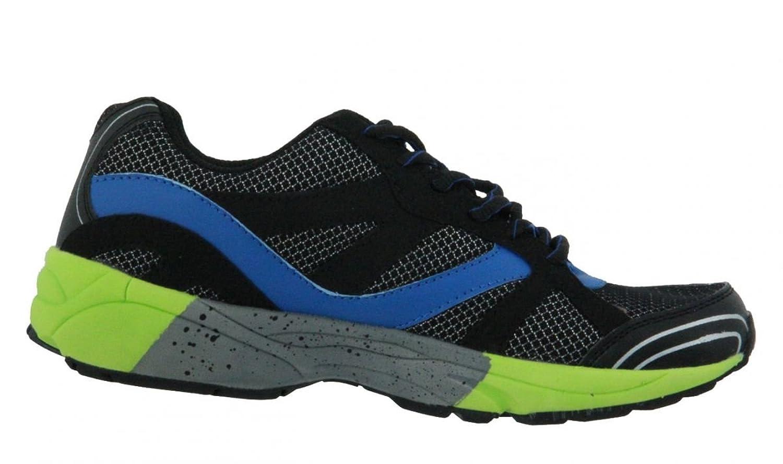 Bruetting Diamond Star - Zapatillas de correr de material sintético hombre Schwarz (schwarz/blau/lemon) Talla:38 WfSGYxN