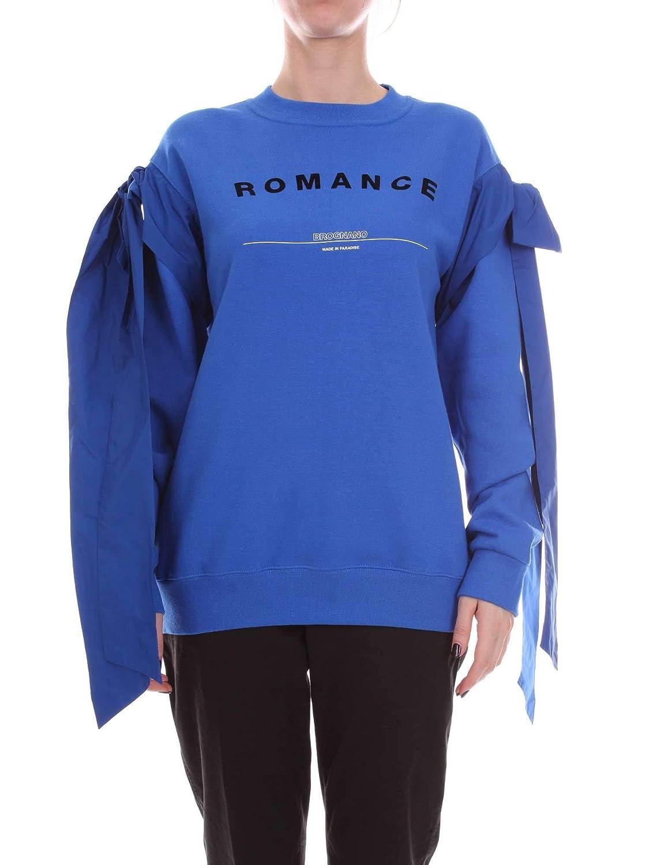 Brognano Women's B280609AblueETTE bluee Cotton Sweatshirt