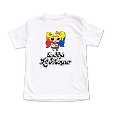 1a9e0a322d91 Dittoxpression Suicide Squad Harley Quinn Daddy's Lil Monster Children T- Shirt ...