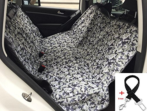 Pet Dog Car Backseat Cover Waterproof Back Seat Barrier – Foldable Dog Travel Mat Adjustable Lightweight Hammock for Car SUV Trucks Clean Protection! (Medium, Camouflage) Review