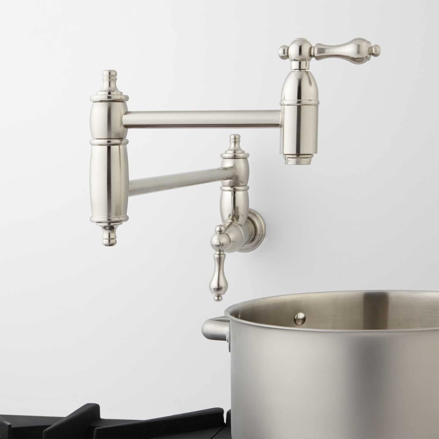 Signature Hardware 329234 Augusta 1.8 GPM Double Handle Wall Mounted Pot Filler